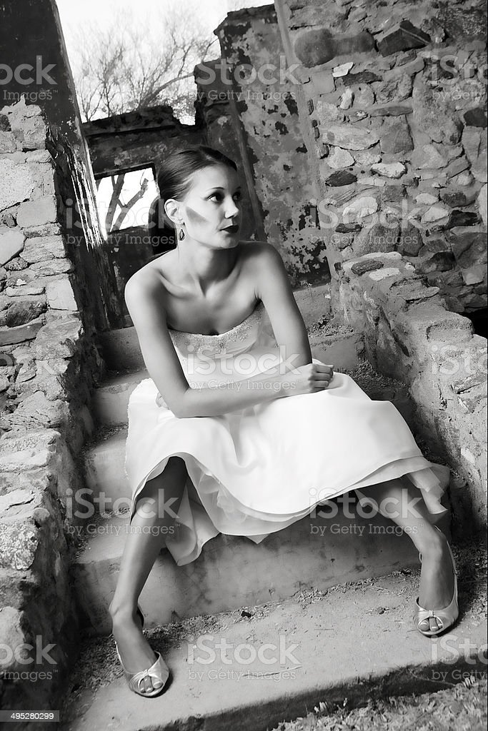 Beautiful Modern Bride stock photo