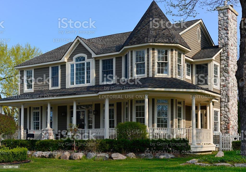 Beautiful Modern Home in Rochester, Michigan stock photo