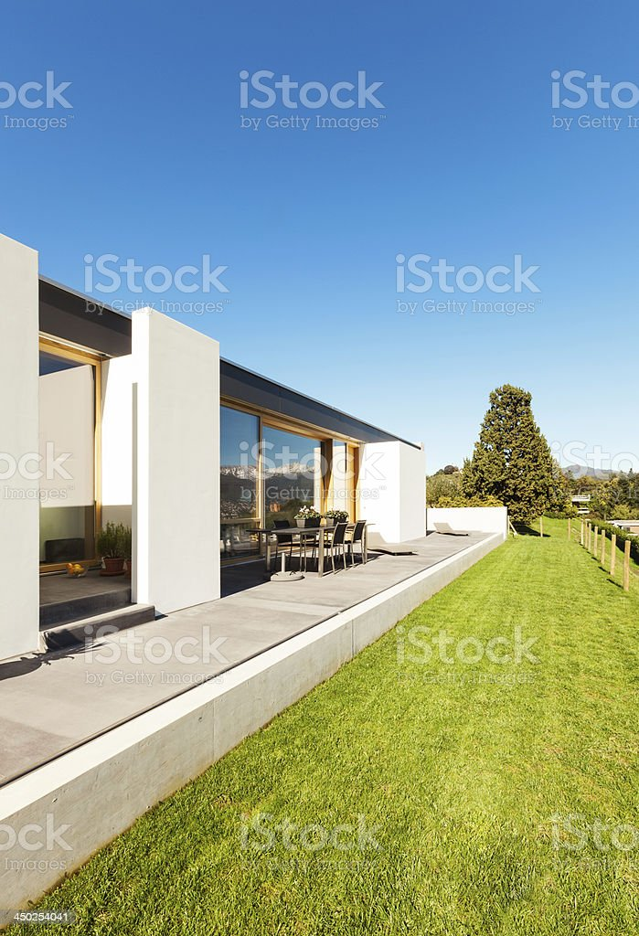 beautiful modern house in cement royalty-free stock photo