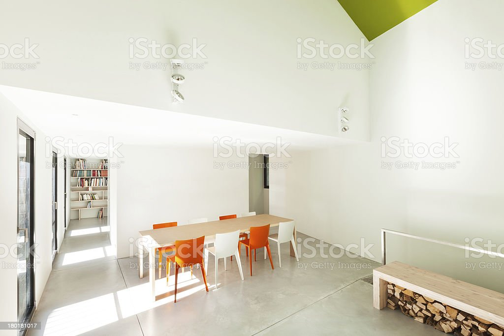 Beautiful modern house, interior royalty-free stock photo