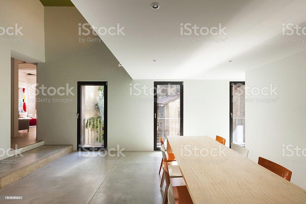 Beautiful modern house, interior stock photo