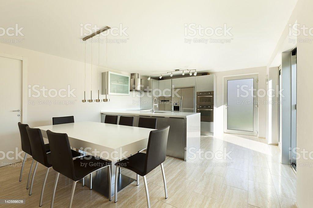 beautiful modern house, kitchen royalty-free stock photo