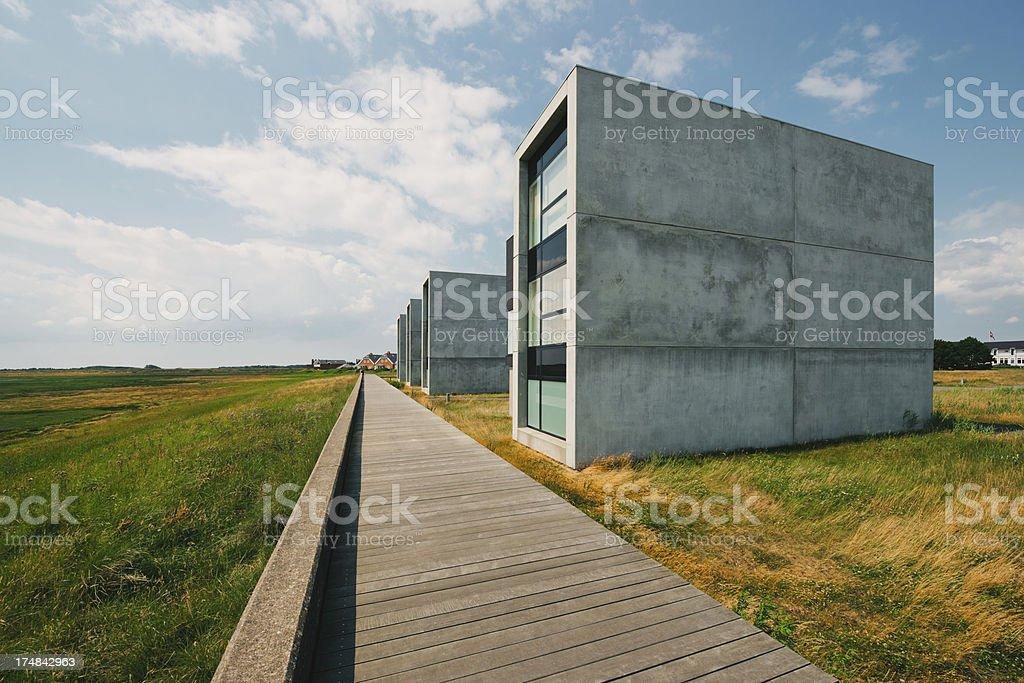 beautiful modern house near the beach royalty-free stock photo