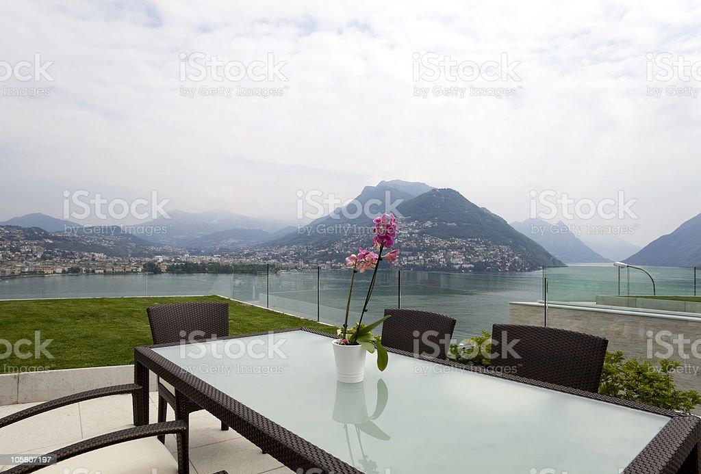 beautiful modern house royalty-free stock photo