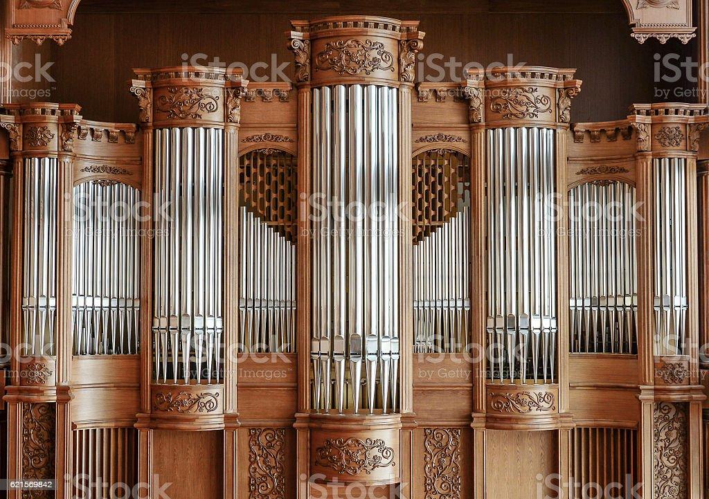 Beautiful modern organ stock photo
