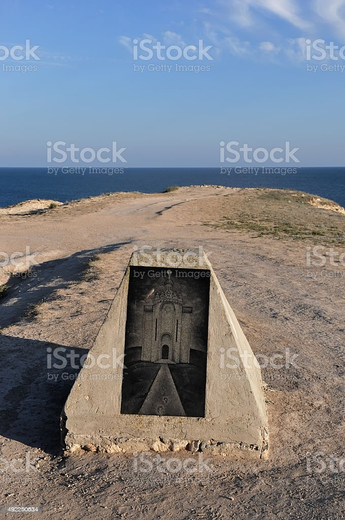 Beautiful monument on the shore of the Black Sea stock photo