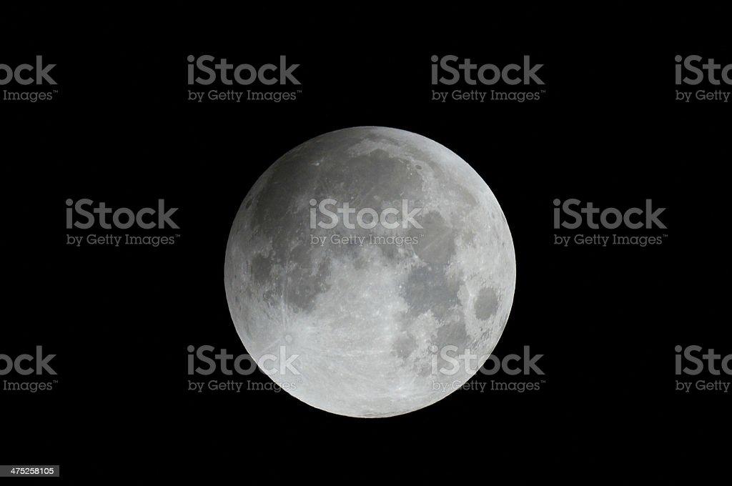 beautiful moon (lunar eclipse) stock photo