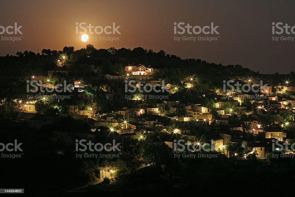 Beautiful moonlight landscape royalty-free stock photo