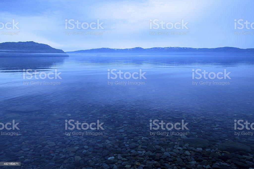 beautiful morning at  Lake royalty-free stock photo