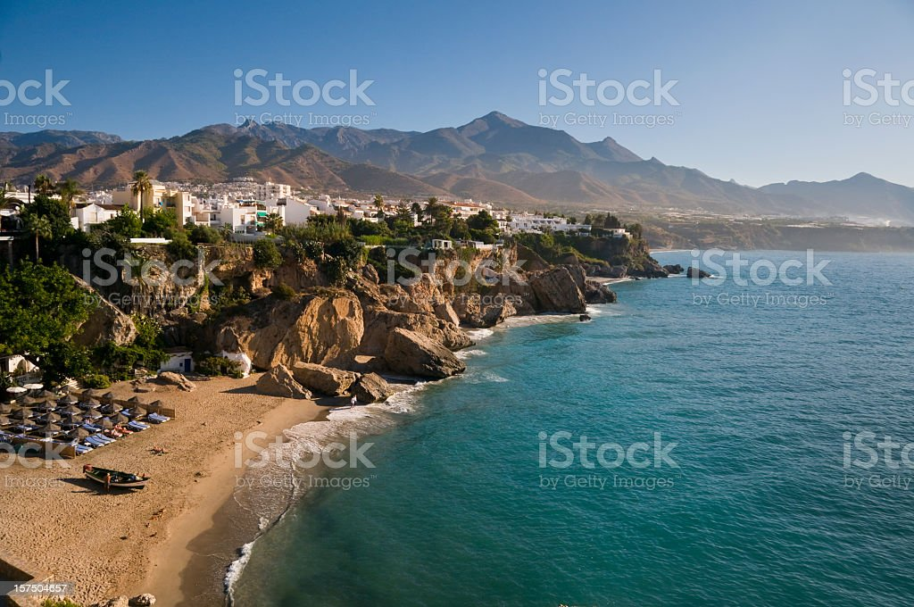 Beautiful morning in Nerja royalty-free stock photo