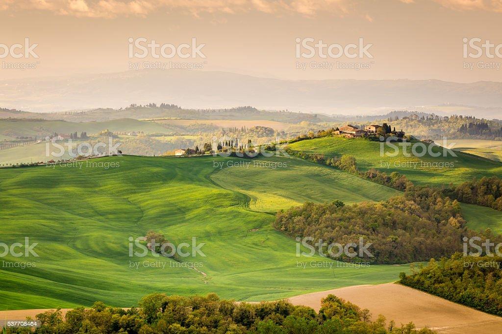 Beautiful morning in Tuscany stock photo