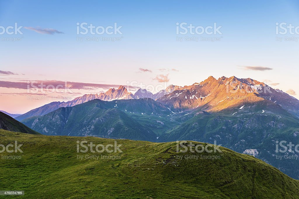 beautiful morning over mountains royalty-free stock photo