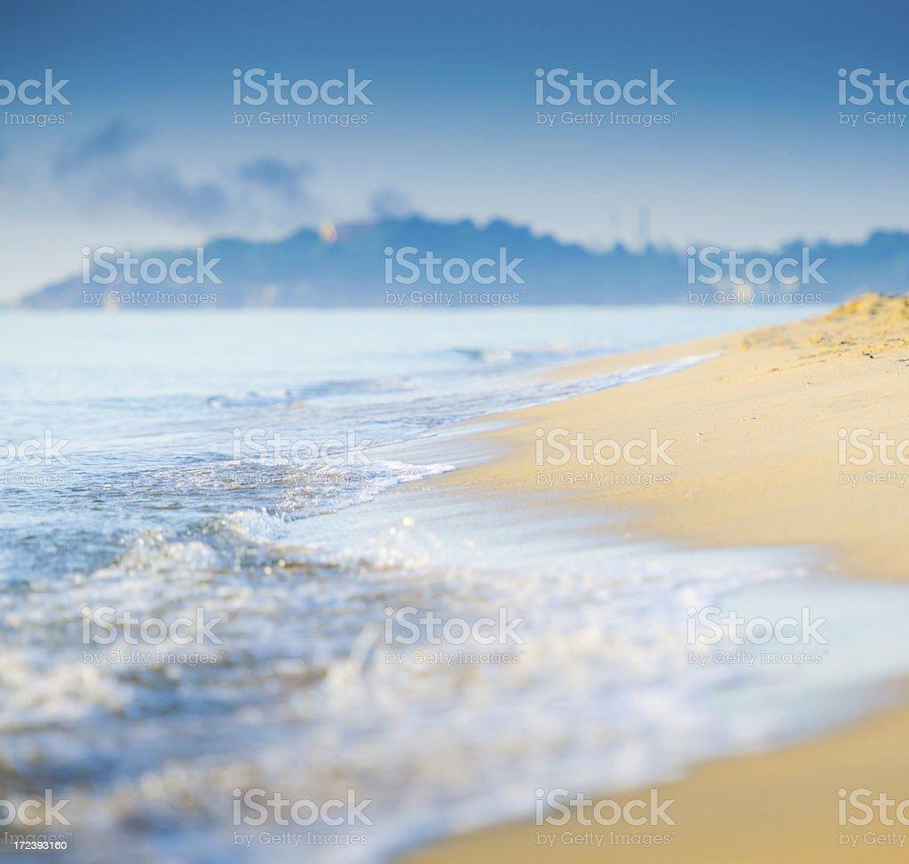 Beautiful morning sunrise at tropical sea royalty-free stock photo