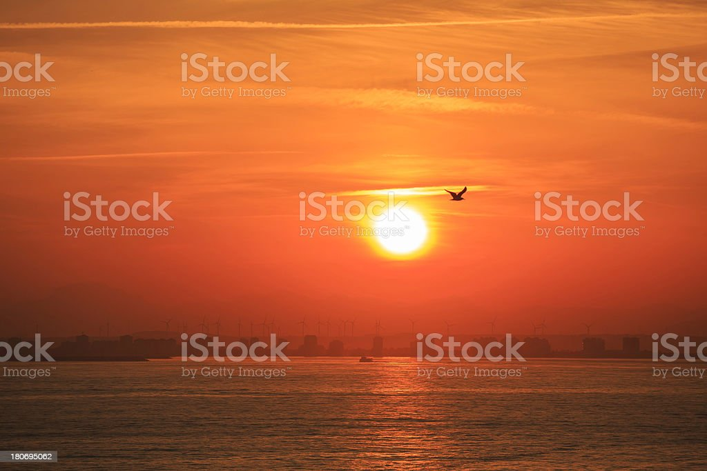 beautiful morning sunrise/sunset over sea royalty-free stock photo