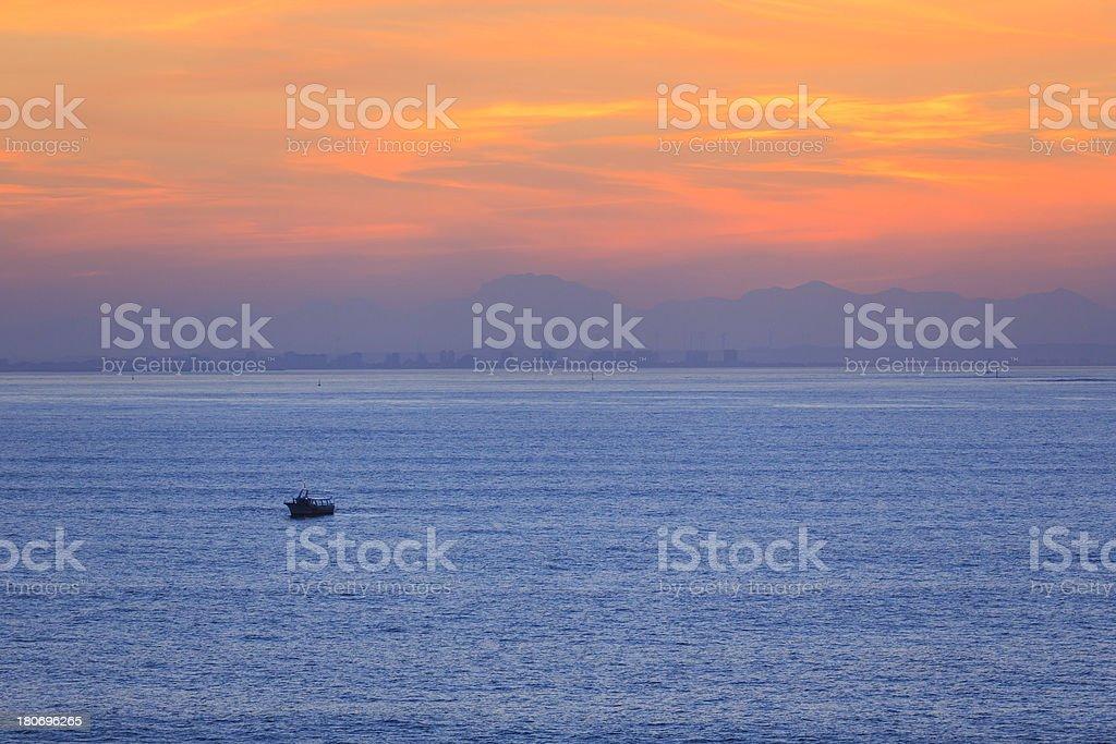 beautiful morning sunrise/sunset over sea royalty-free stock photo