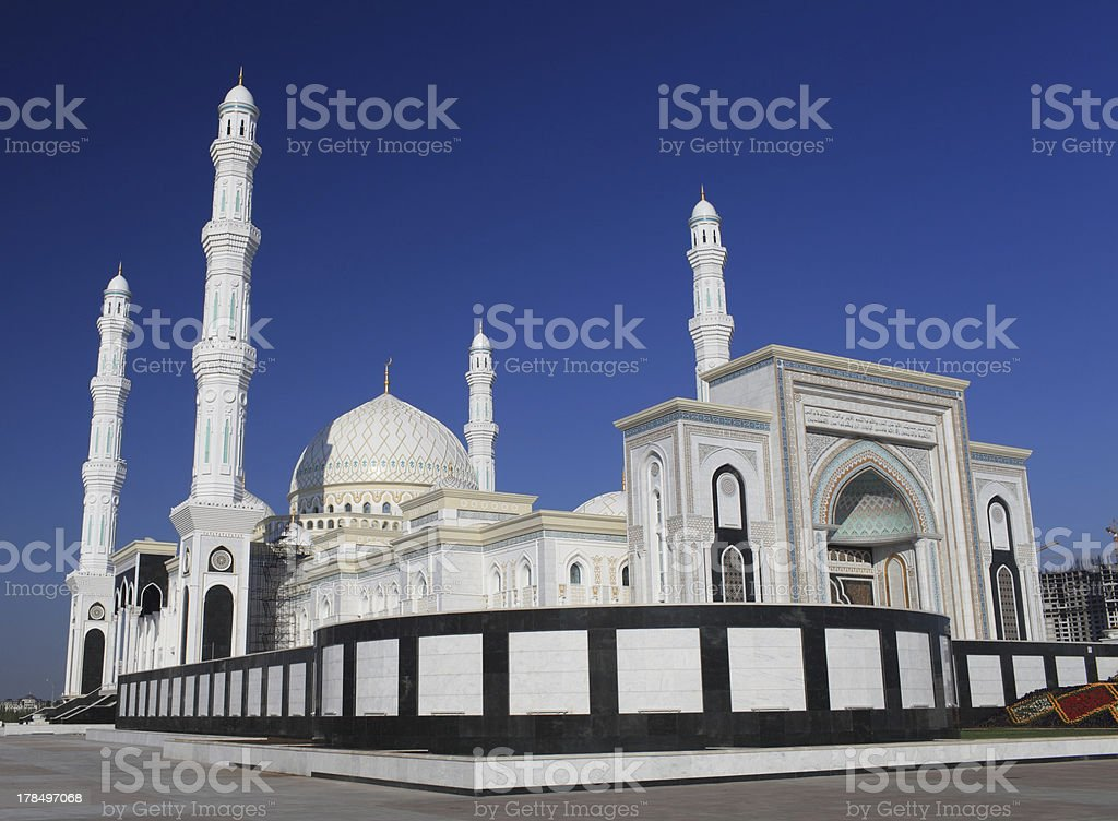 beautiful mosque in Astana royalty-free stock photo