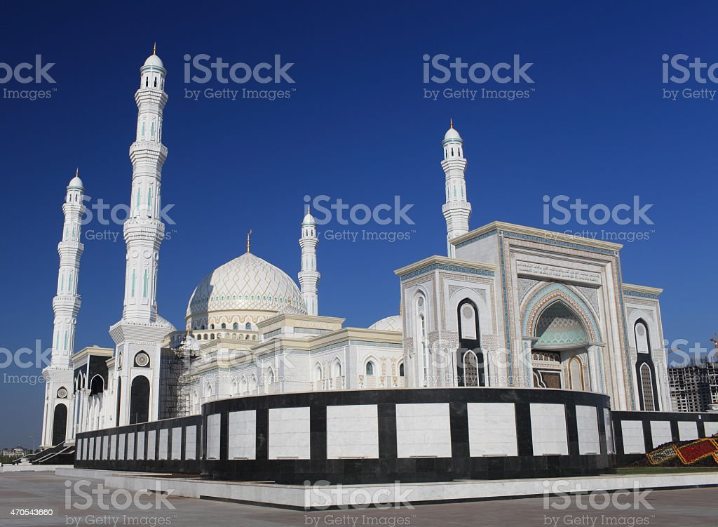 beautiful mosque in Astana stock photo