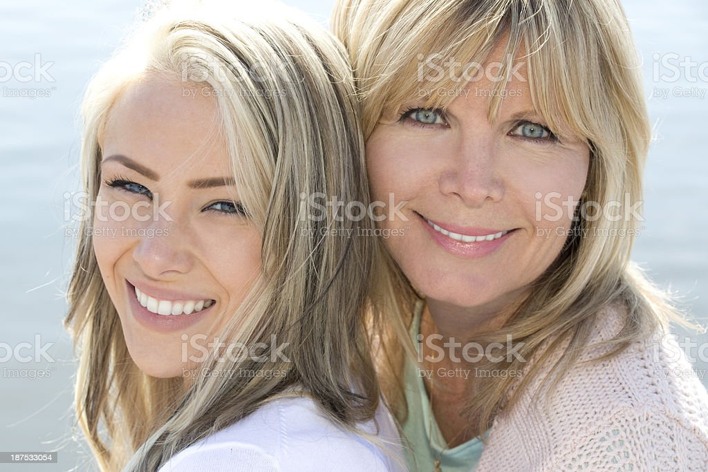 beautiful mother and daughter royalty-free stock photo
