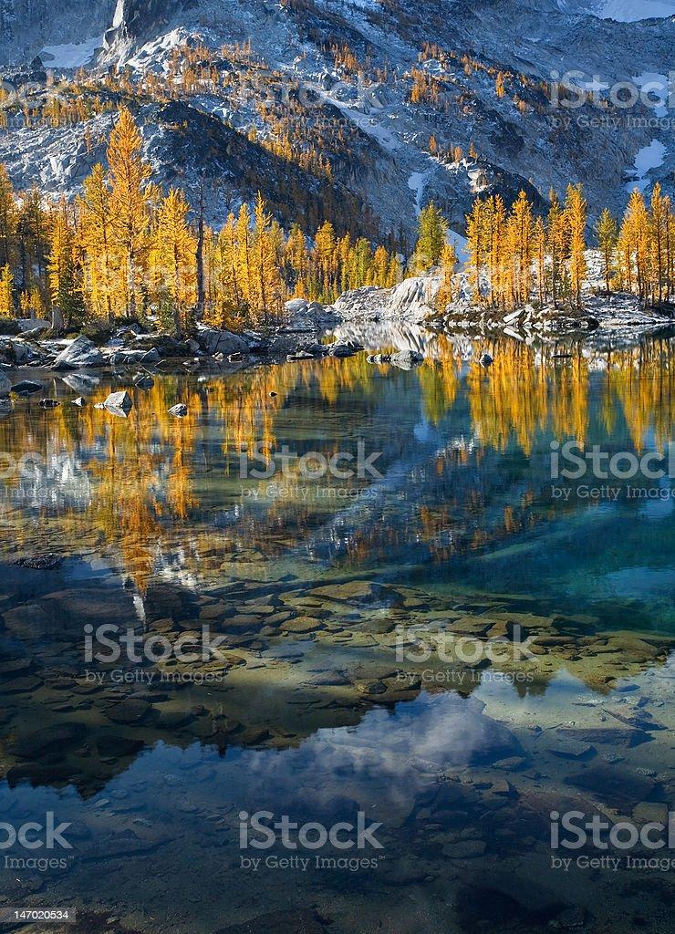 Beautiful Mountain Lake in Autumn royalty-free stock photo