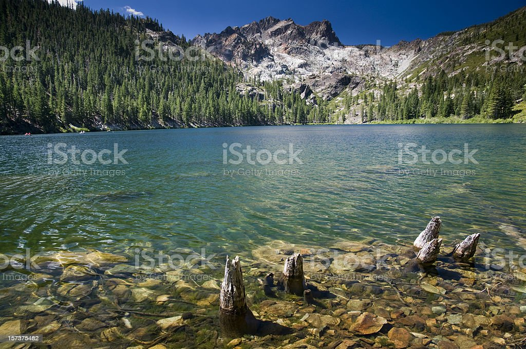 Beautiful Mountain Lake royalty-free stock photo