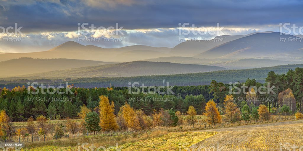 Beautiful Mountain Landscape in Autumn royalty-free stock photo