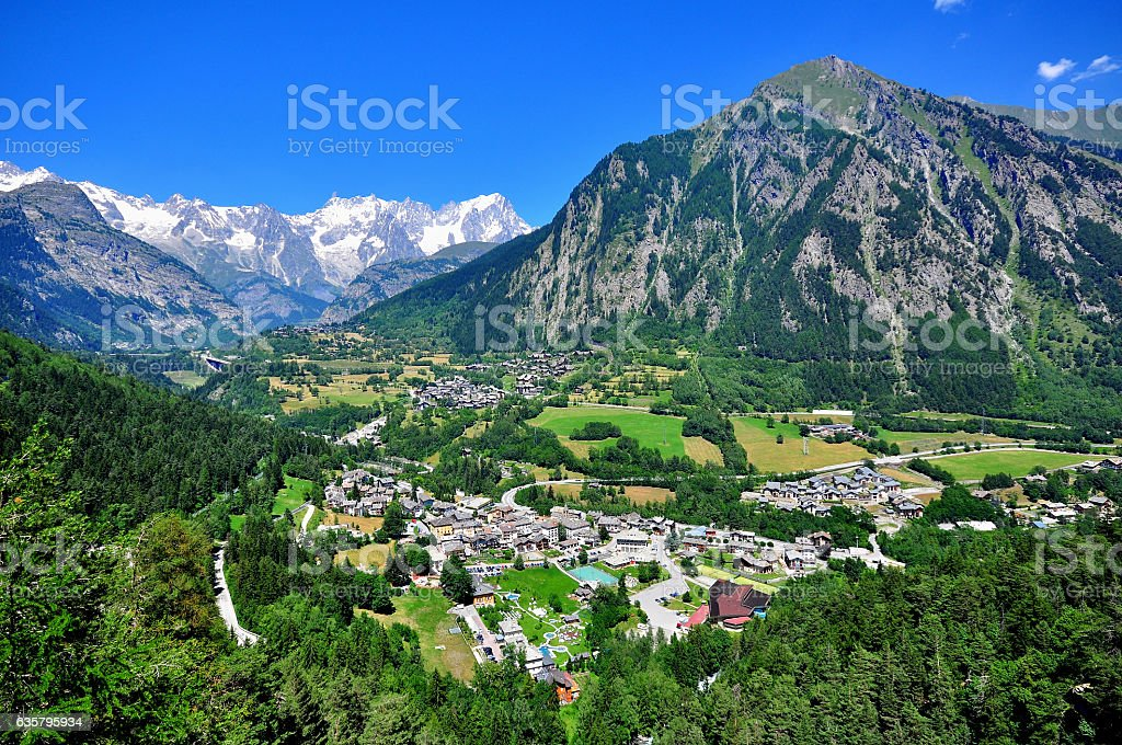 Beautiful mountain landscape in northern Italy stock photo