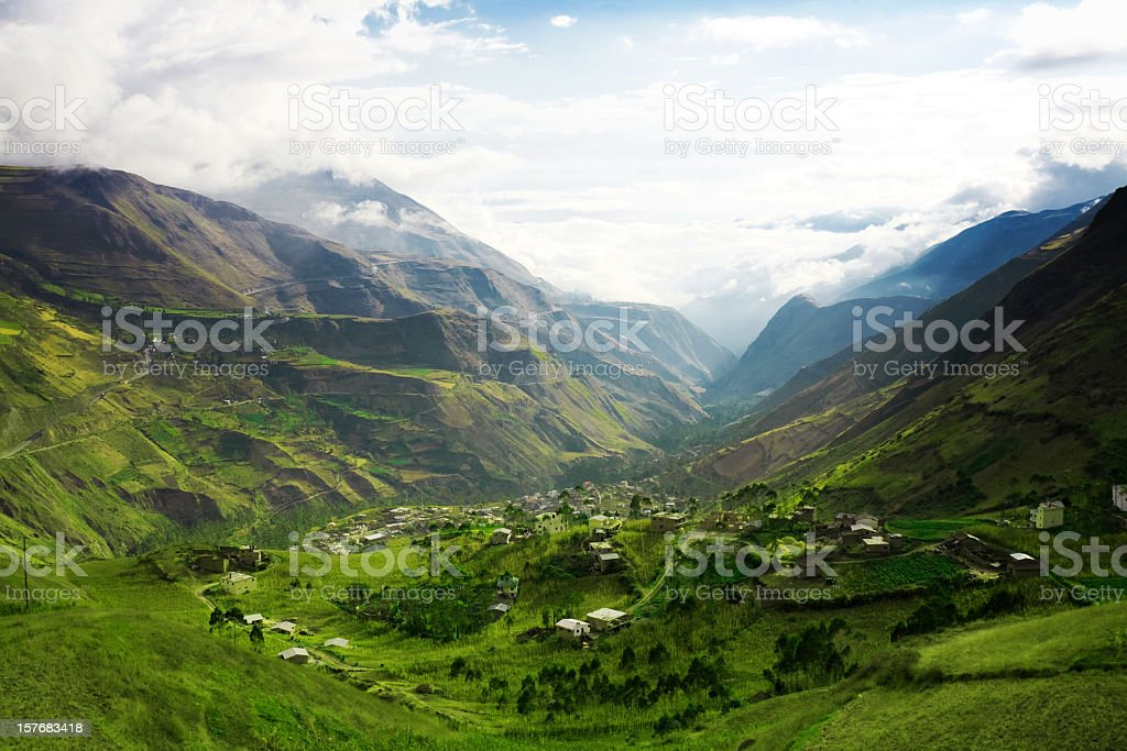 A beautiful mountain landscape royalty-free stock photo