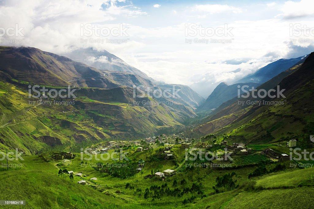 A beautiful mountain landscape stock photo