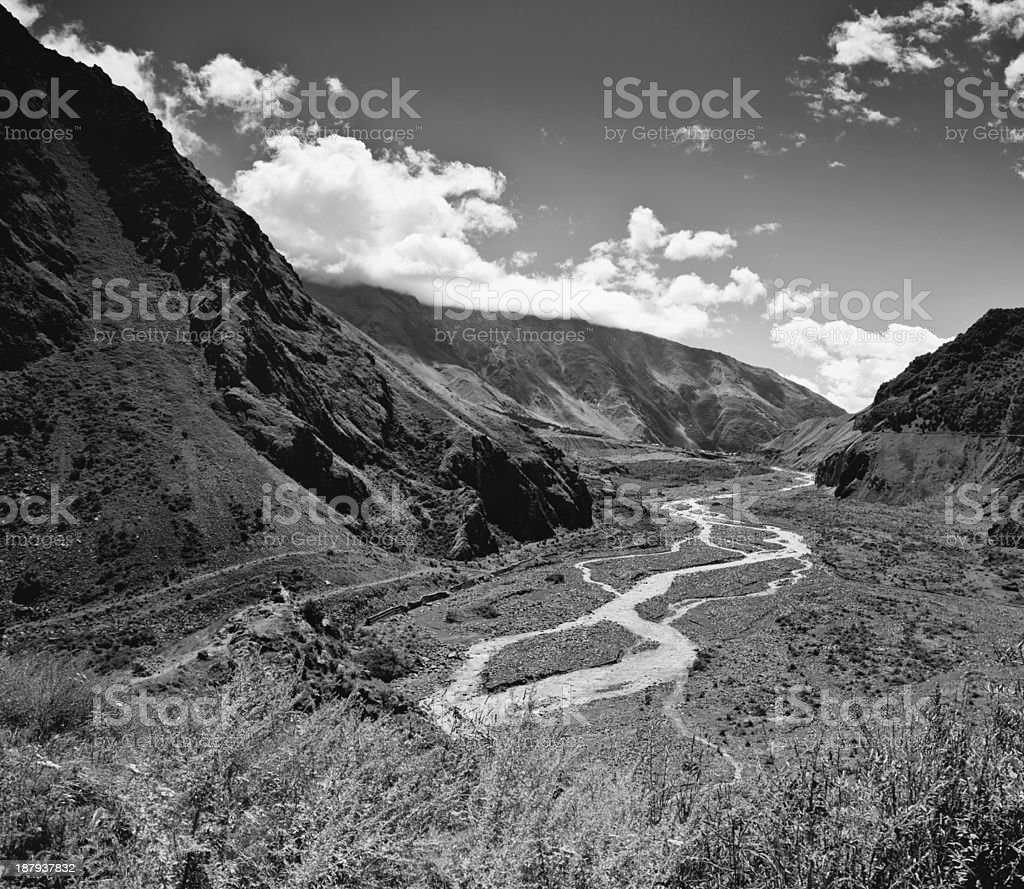 beautiful mountain landscape royalty-free stock photo