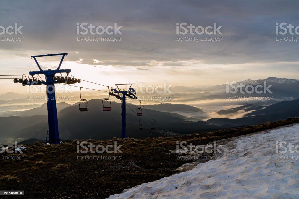 Beautiful mountain landscape. stock photo