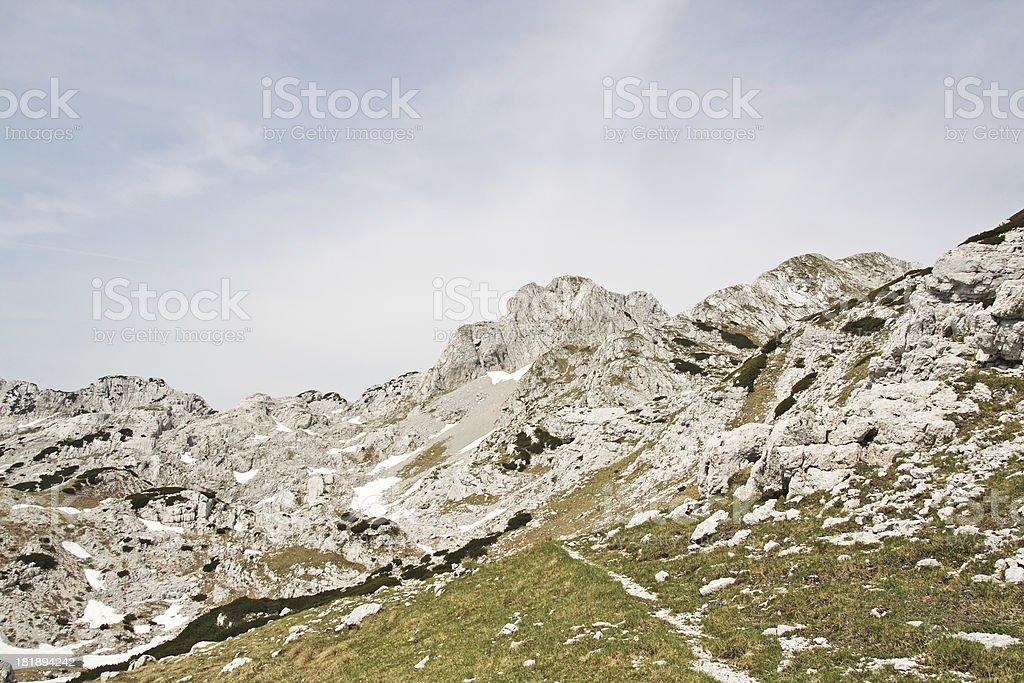 Beautiful mountain peak royalty-free stock photo