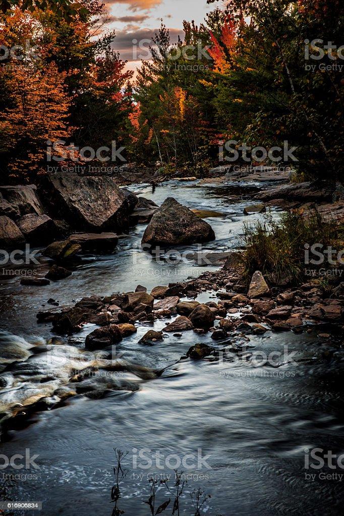 Beautiful mountain river in Ontario - Canada stock photo