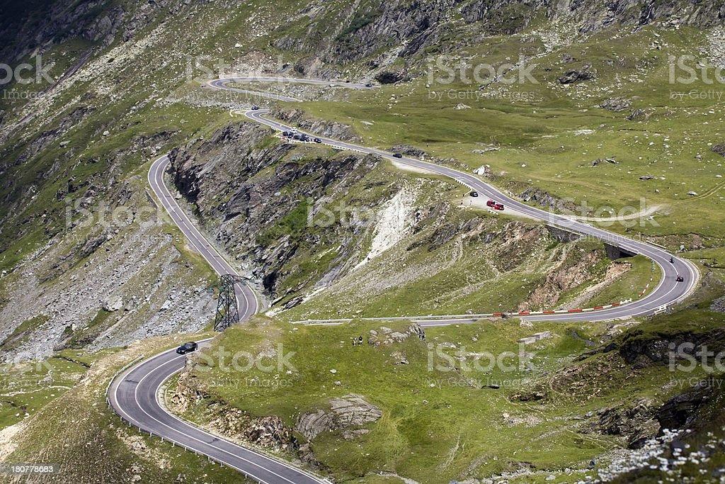 beautiful mountain road royalty-free stock photo