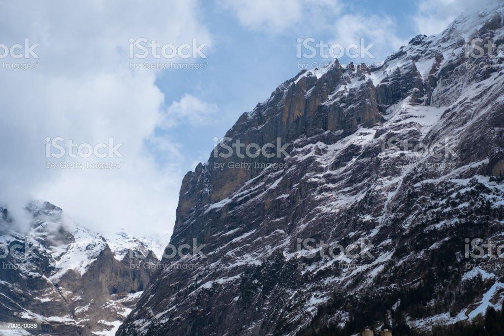 Beautiful mountain scenery at Grindelwald and Jungfrau - Switzerland stock photo