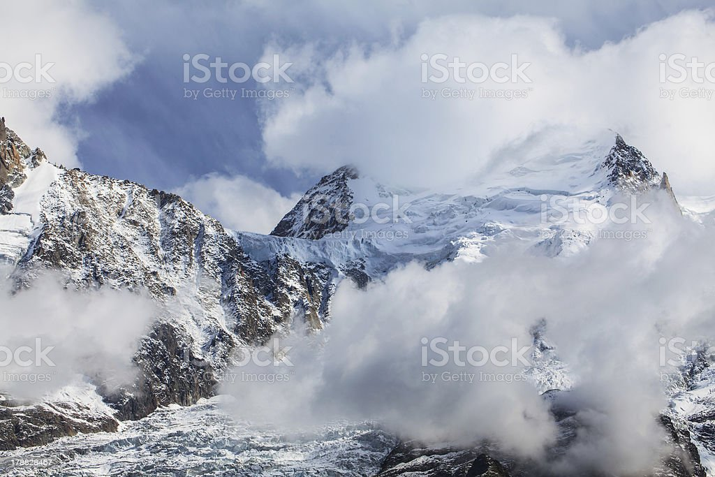Beautiful mountain scenery in the Alps royalty-free stock photo