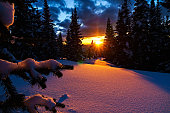 Beautiful Mountain Sunset