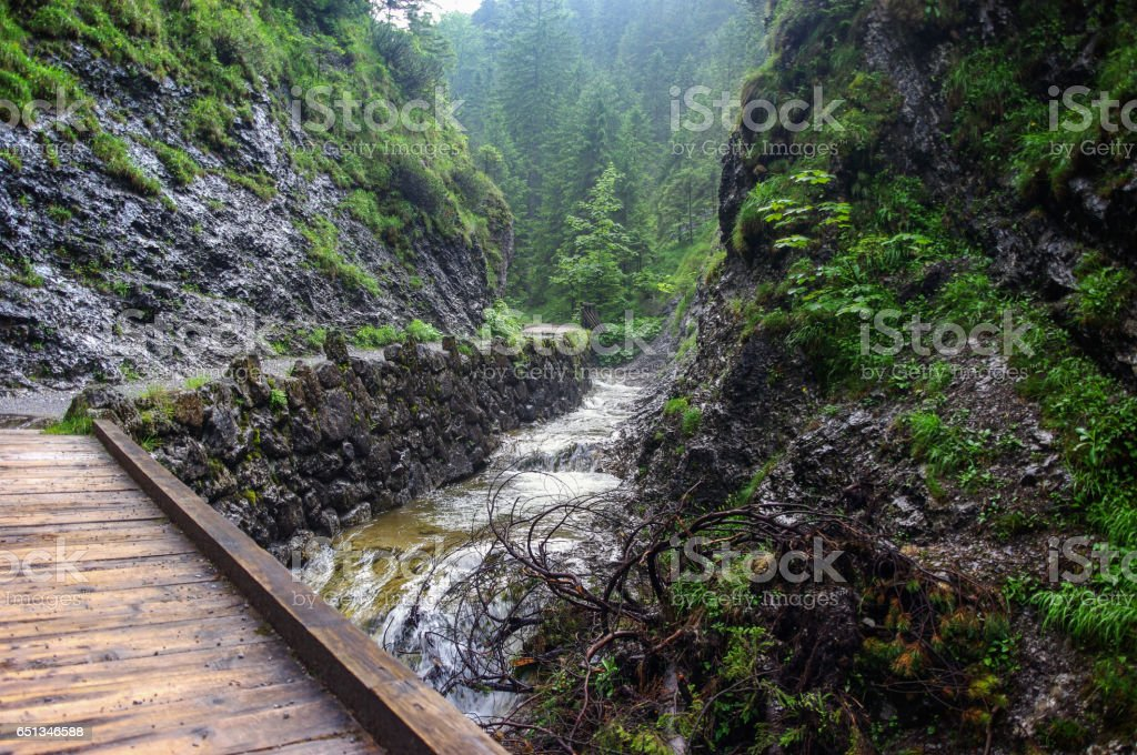 Beautiful mountain valley in the Tatra Mountains stock photo