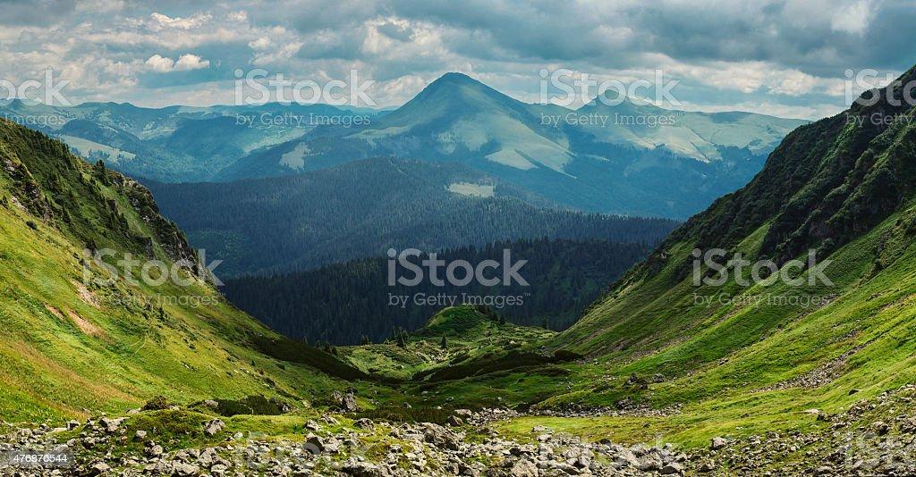 Beautiful mountain valley stock photo