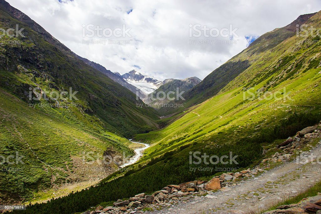 Beautiful mountain view stock photo