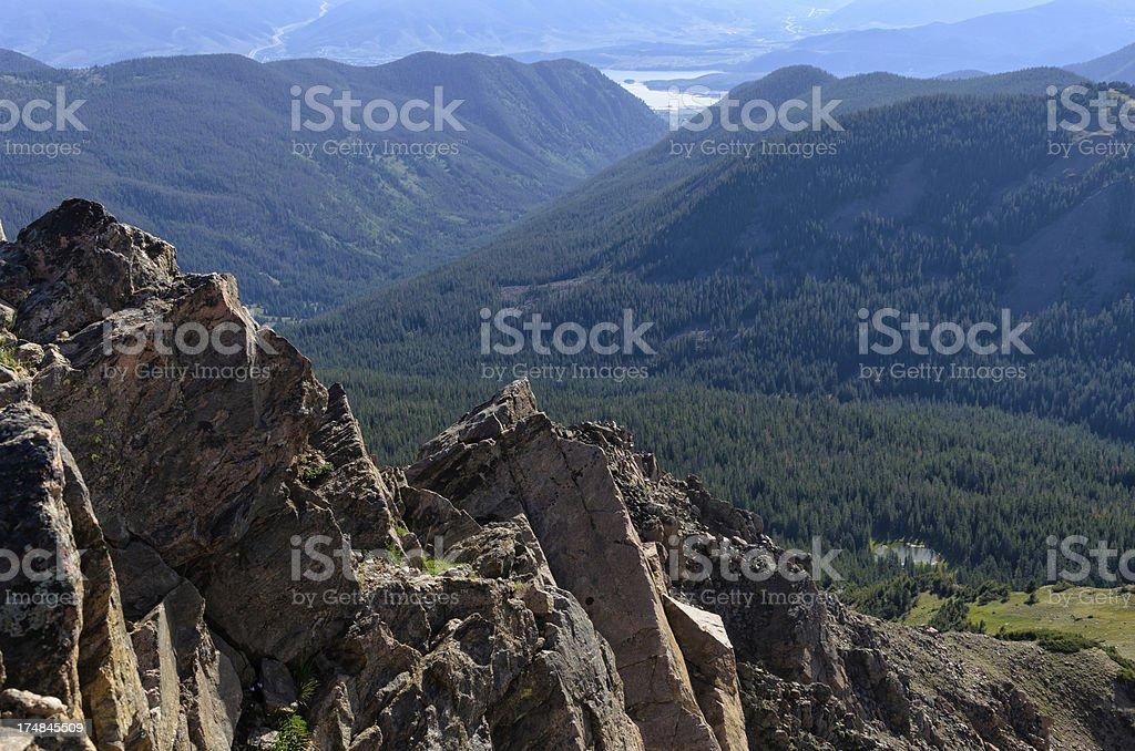 Beautiful Mountain Vista from Summit stock photo