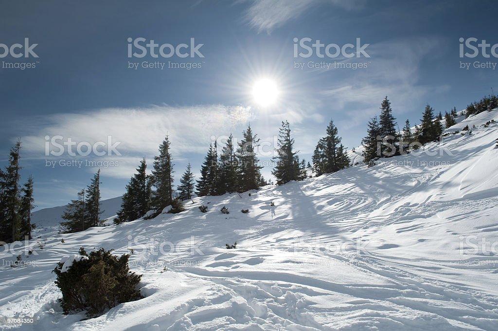 Beautiful mountainous landscape stock photo