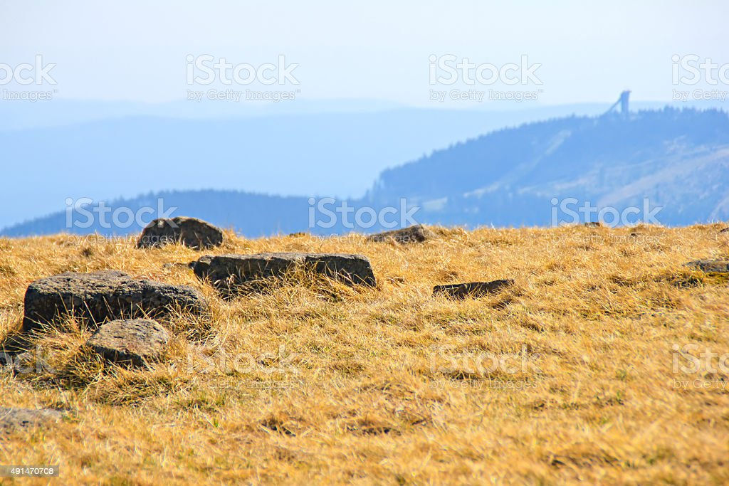 Beautiful mountains in national park Harz, Germany stock photo