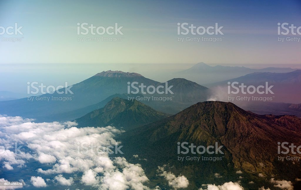 Beautiful Mountains In The Morning stock photo