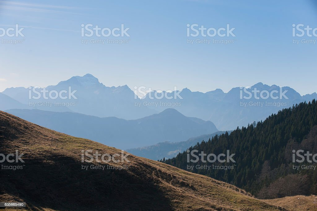 Beautiful mountains nature stock photo