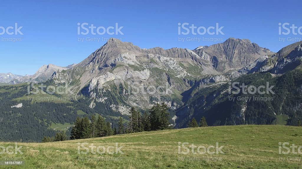 Beautiful mountains near Gstaad royalty-free stock photo