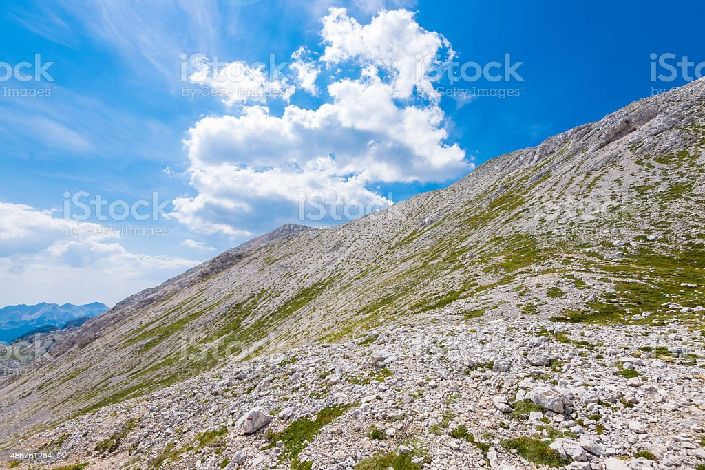 Beautiful mountains of Triglav national park stock photo