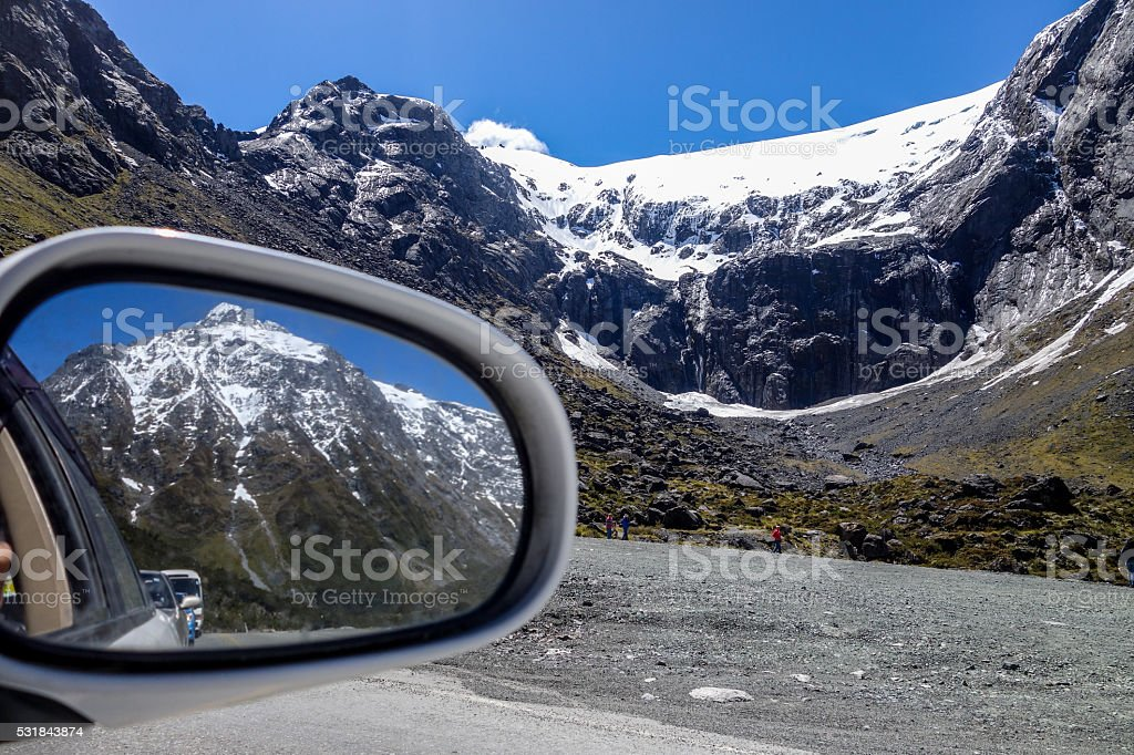 Beautiful mountains on every direction stock photo