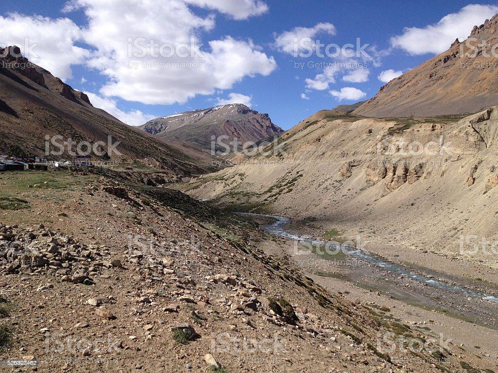 Beautiful mountains on Leh highway, Leh district, Ladakh, Himalayas, India stock photo