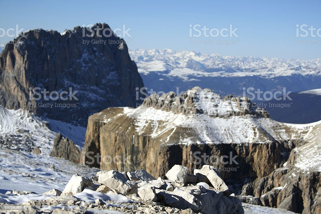 Beautiful mountains panorama royalty-free stock photo