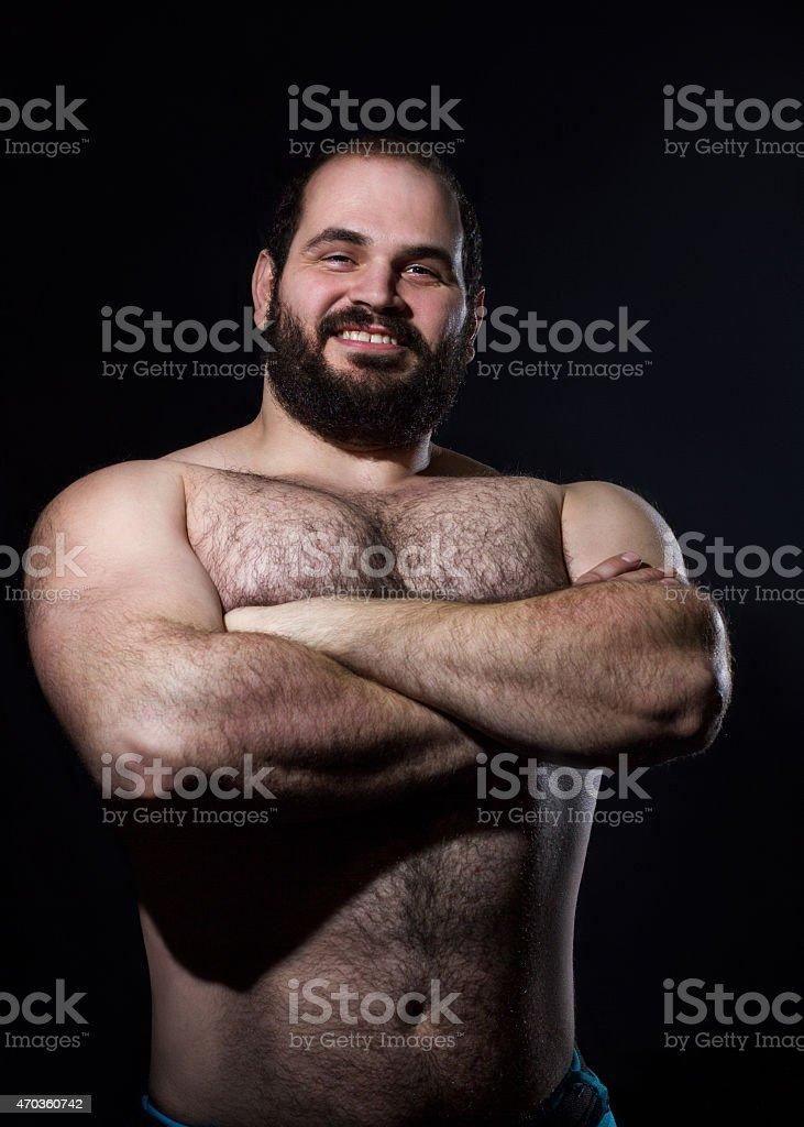 Hermoso hombre muscular foto de stock libre de derechos